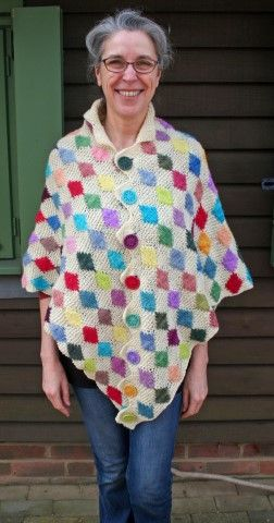 Bejewelled Poncho, Knitting Pattern