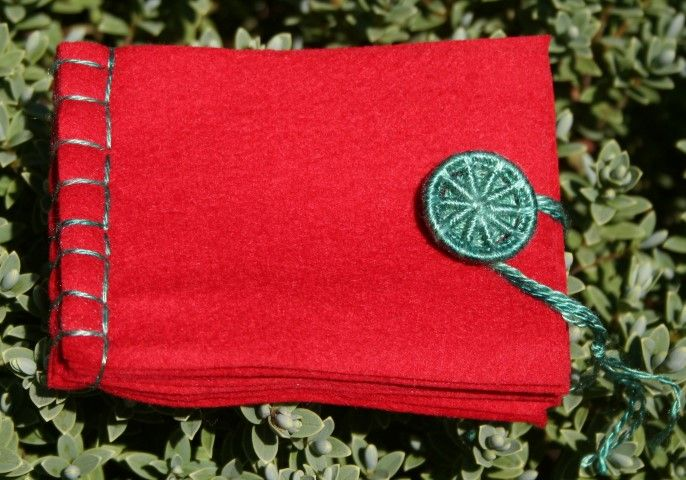 Dorset Button Sewing Kit - Needle Book, Red