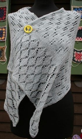 Wheat ears Stole with Wheat ears Shawl Pin, Knitting Pattern